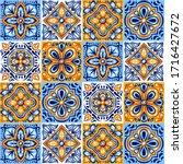italian ceramic tile pattern.... | Shutterstock .eps vector #1716427672