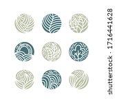 set of tropical plant green... | Shutterstock .eps vector #1716441628
