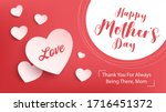 happy mother day banner design. ... | Shutterstock .eps vector #1716451372