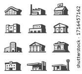 public building icon set ...   Shutterstock .eps vector #1716457162
