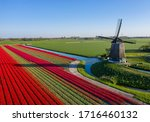 Drone Photo Of A Typical Dutch...
