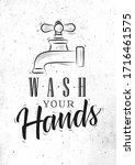 bathroom faucet in retrro style ...   Shutterstock .eps vector #1716461575
