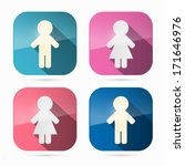 Man And Woman Icons  Symbols I...