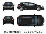 black hatchback car vector...   Shutterstock .eps vector #1716474262