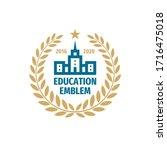education badge logo design.... | Shutterstock .eps vector #1716475018