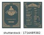 vintage restaurant menu design... | Shutterstock .eps vector #1716489382