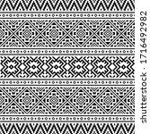 tribal ethnic pattern design... | Shutterstock .eps vector #1716492982