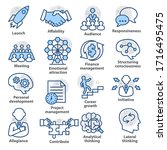 business management icons. set... | Shutterstock .eps vector #1716495475