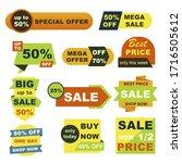 best price badges set. mega... | Shutterstock .eps vector #1716505612