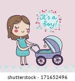 it's a boy greetings card | Shutterstock . vector #171652496