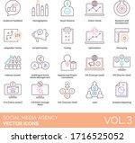 social media agency icons... | Shutterstock .eps vector #1716525052