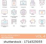 social media agency icons... | Shutterstock .eps vector #1716525055