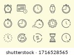 time and clock line icons.... | Shutterstock .eps vector #1716528565