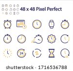 time and date icons set vector... | Shutterstock .eps vector #1716536788