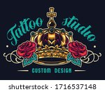 colorful tattoo salon logotype... | Shutterstock . vector #1716537148
