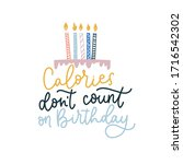 calories dont count on birthday ... | Shutterstock .eps vector #1716542302