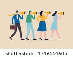 marketing strategy  word of... | Shutterstock .eps vector #1716554605