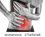 muscular woman with stomach... | Shutterstock . vector #171656168