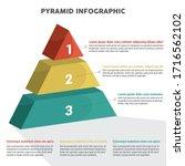 pyramid 3d info chart graphic... | Shutterstock .eps vector #1716562102