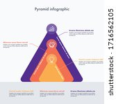 colorful hierarchy pyramid...   Shutterstock .eps vector #1716562105