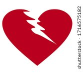 heart design with flat style.... | Shutterstock .eps vector #1716575182