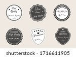 collection of vintage labels... | Shutterstock .eps vector #1716611905
