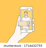 online delivery service concept.... | Shutterstock .eps vector #1716632755