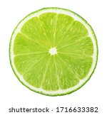 Slice Of Lime Without Shadow...