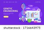 genetic engineering  changing...   Shutterstock .eps vector #1716643975