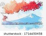 Watercolor Painting Landscape...