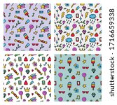 vector pattern from colored... | Shutterstock .eps vector #1716659338