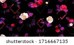 wide vintage seamless... | Shutterstock .eps vector #1716667135