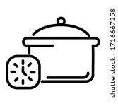 cooking icon. flat pan style...   Shutterstock .eps vector #1716667258