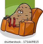 cartoon vector humor concept... | Shutterstock .eps vector #171669815