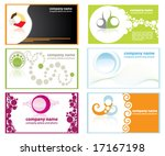 set of business cards with firm ... | Shutterstock .eps vector #17167198