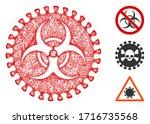 mesh virus hazard polygonal web ...   Shutterstock .eps vector #1716735568