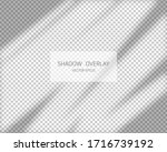 shadow overlay effect. natural... | Shutterstock .eps vector #1716739192