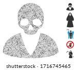 hatch collage death man icon... | Shutterstock .eps vector #1716745465