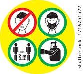 warning symbols  covering the... | Shutterstock .eps vector #1716751522