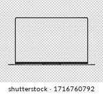modern laptop computer mockup....   Shutterstock .eps vector #1716760792