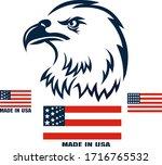american eagle patriotic logo.... | Shutterstock .eps vector #1716765532