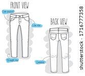 denim sketch. black and white... | Shutterstock .eps vector #1716777358