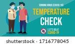 covid 19 temperature check... | Shutterstock .eps vector #1716778045