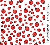 Seamless Ladybird  Ladybug...