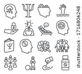 psychology line icons set on... | Shutterstock . vector #1716806248