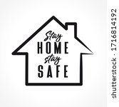 stay home  stay safe   icon... | Shutterstock .eps vector #1716814192