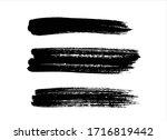 art black ink abstract brush... | Shutterstock .eps vector #1716819442