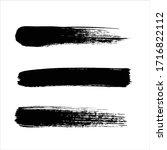 art black ink abstract brush... | Shutterstock .eps vector #1716822112