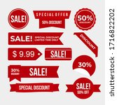 sales banner collection  price... | Shutterstock .eps vector #1716822202