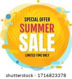 yellow sale poster speech... | Shutterstock .eps vector #1716823378